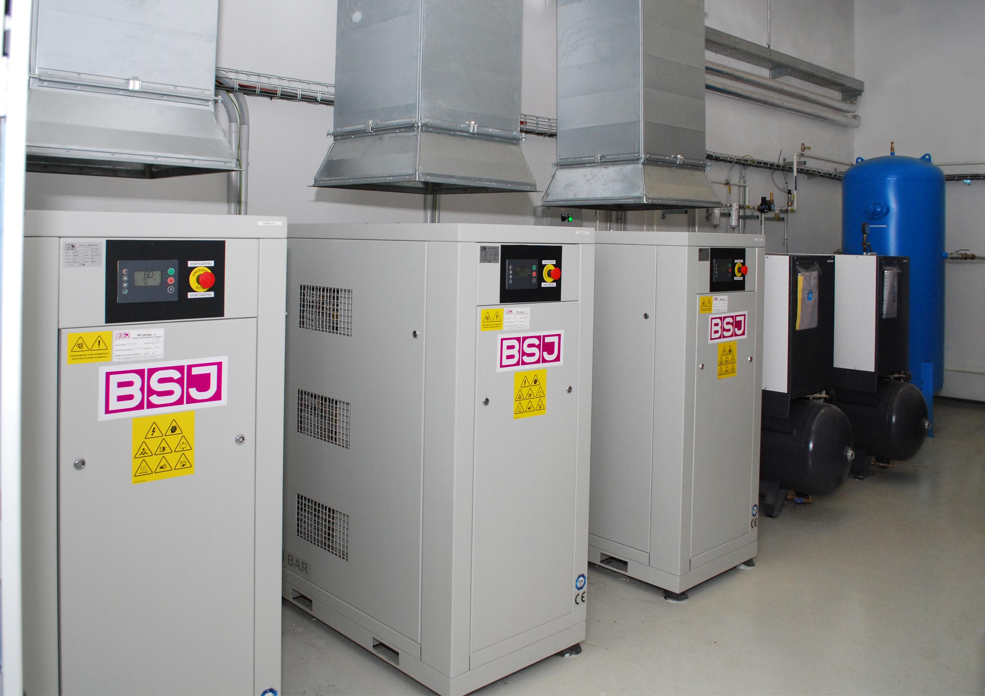 Electric Powersteering Components Europe,  Slané – centrální kompresorová stanice – spirálové kompresory